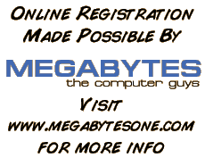 Online registration made possible by Megabytes